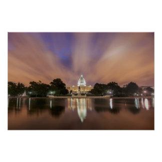 Poster Washington DC, bâtiment de capitol