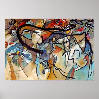 Poster Wassily Kandinsky - art abstrait de la composition