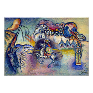 Poster Wassily Kandinsky - St George et les cavaliers