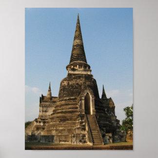 Poster Wat Phra SI Sanphet… Ayutthaya, Thaïlande