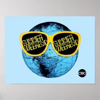Poster Week-end d'été - graphique de promo