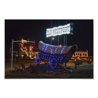 Poster Westport, Missouri, lumières de vacances de