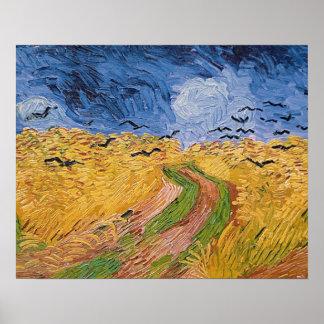 Poster Wheatfield de Vincent van Gogh | avec des