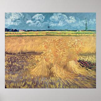 Poster Wheatfield de Vincent van Gogh | avec des gerbes,