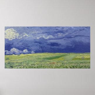Poster Wheatfields de Vincent van Gogh | sous le nuage