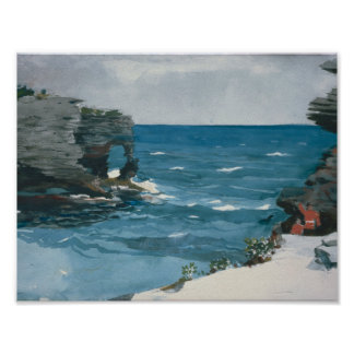 Poster Winslow Homer - rivage rocheux, Bermudes