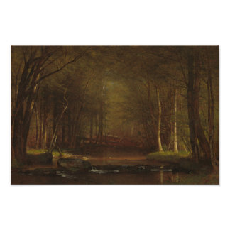 Poster Worthington Whittredge - ruisseau de truite