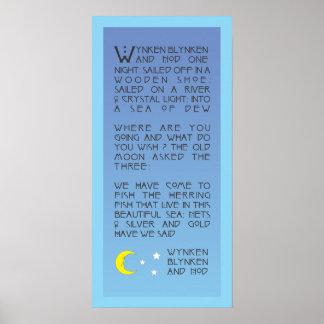 Poster Wynken, Blynken, et signe d'assentiment