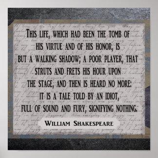 Poster X12 de Shakespeare 12 --- Copie d'art - citation