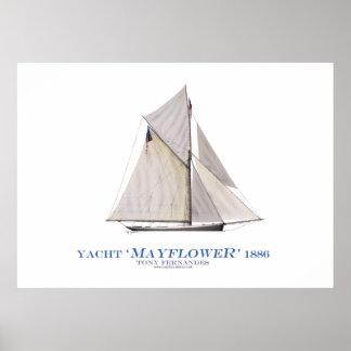 """Poster yacht """"fleur printanière"""" de tasse des Amériques,"""