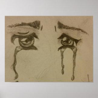 Poster Yeux pleurants