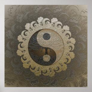 Poster Yin Yang avec l'arbre de la vie par Amelia Carrie