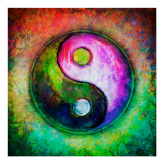 Poster Yin Yang - Colorful Painting I