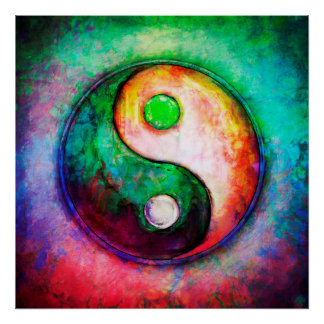 Poster Yin Yang - Colorful Painting II