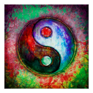 Poster Yin Yang - Colorful Painting III