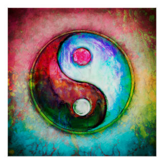 Poster Yin Yang - Colorful Painting IV