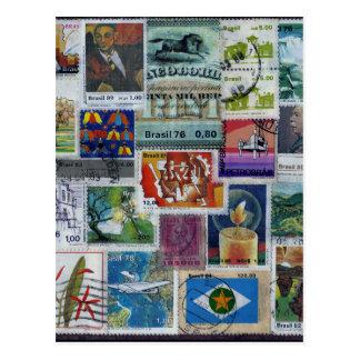 Poststamp-themed Postcard Carte Postale
