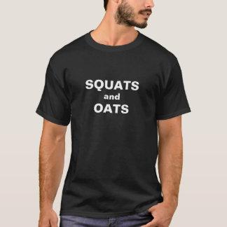 Postures accroupies et avoine t-shirt