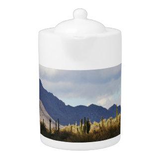 Pot agréable de thé de Saguaros de lac