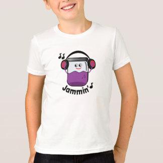 Pot de confiture de Jammin avec le T-shirt