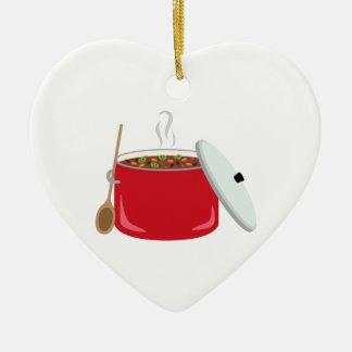 Pot de piment ornement cœur en céramique