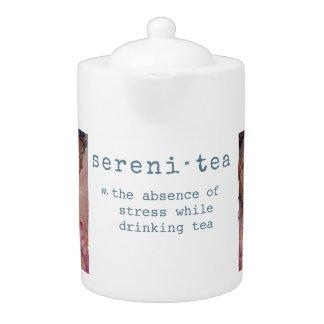 Pot de thé d'art de Bouddha de zen de sérénité
