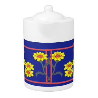 Pot de thé de papillons et de fleurs II