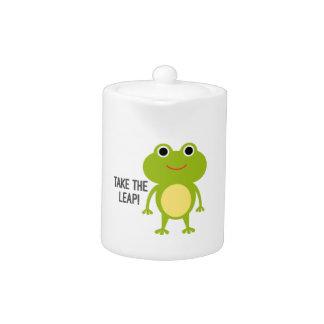 Pot de thé de porcelaine de Froggy