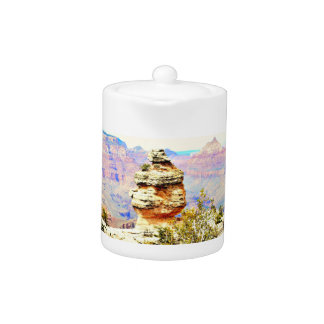 Pot de thé de roche de canyon grand