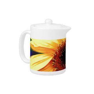 Pot de thé de tournesol