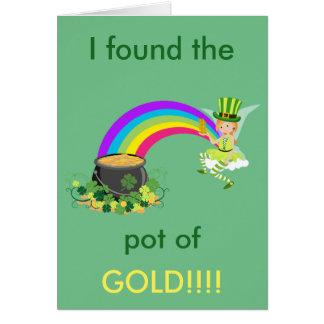 Pot du jour de St Patrick d'or Cartes