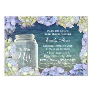 Pot et hortensia de maçon nuptiales de mariage de carton d'invitation  12,7 cm x 17,78 cm