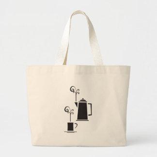 Pot et tasse de café sac fourre-tout