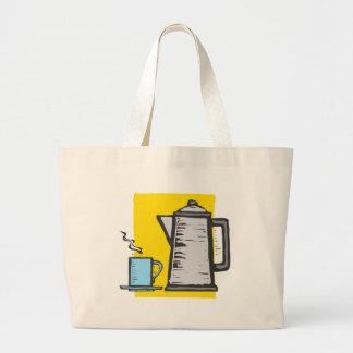 Pot et tasse rugueux de café sac en toile jumbo
