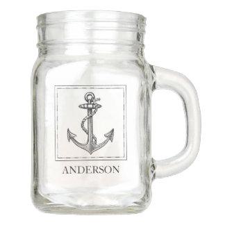 Pot Mason L'ancre nautique de Vieux Monde ajoutent le nom