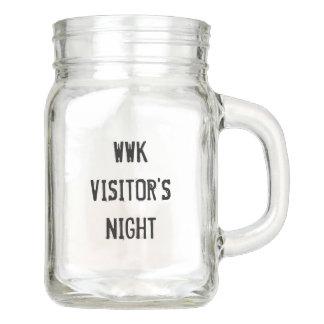 Pot Mason Tasse en verre de la nuit 12oz du visiteur de WWK