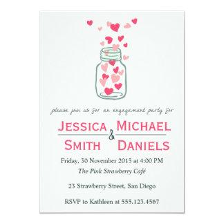 Pot mignon de coeur - invitations de fiançailles