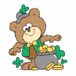 pot mignon d'ours de nounours irlandais de garçon  photo en relief