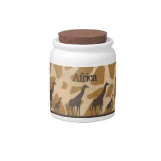 Pot personnalisé par famille de girafe boîte à bonbons