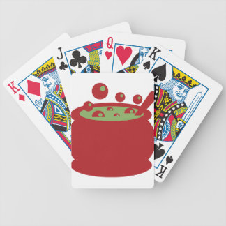 Pot rouge et vert de cuisine jeu de cartes