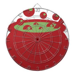 Pot rouge et vert de cuisine jeu de fléchettes