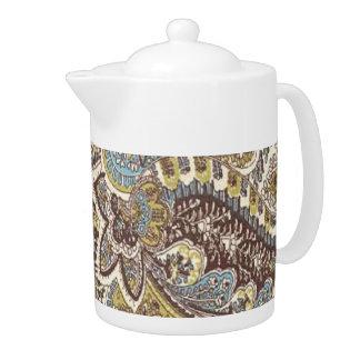 Pot sage vintage de thé de croquis de mise au poin
