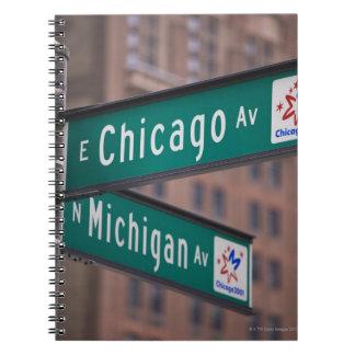 Poteaux indicateurs d'avenue de Chicago et du Carnets