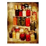 Pots de nourriture maison-en boîte cartes postales