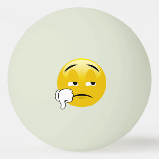 Pouces d'Emoji vers le bas Balle De Ping Pong
