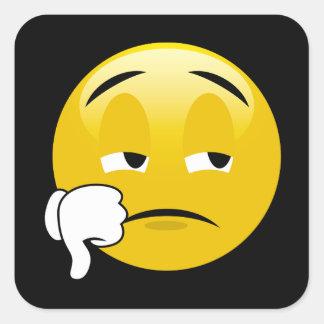 Pouces d'Emoji vers le bas Sticker Carré
