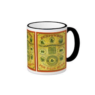 Poudre à vendre la publicité vintage de ~ ici tasse à café