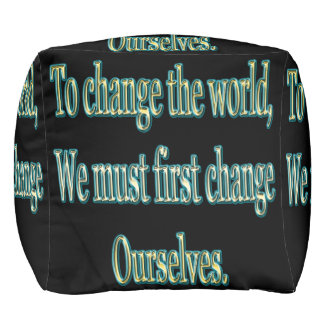 Pouf Changez le monde