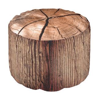 Pouf de tronçon de tronc d'arbre forestier