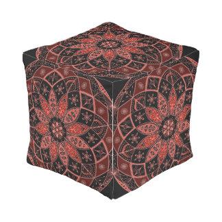 Pouf D'extérieur Cube oriental en automne de conception de motif